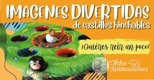 imágenes divertidas de castillos hinchables en Sevilla