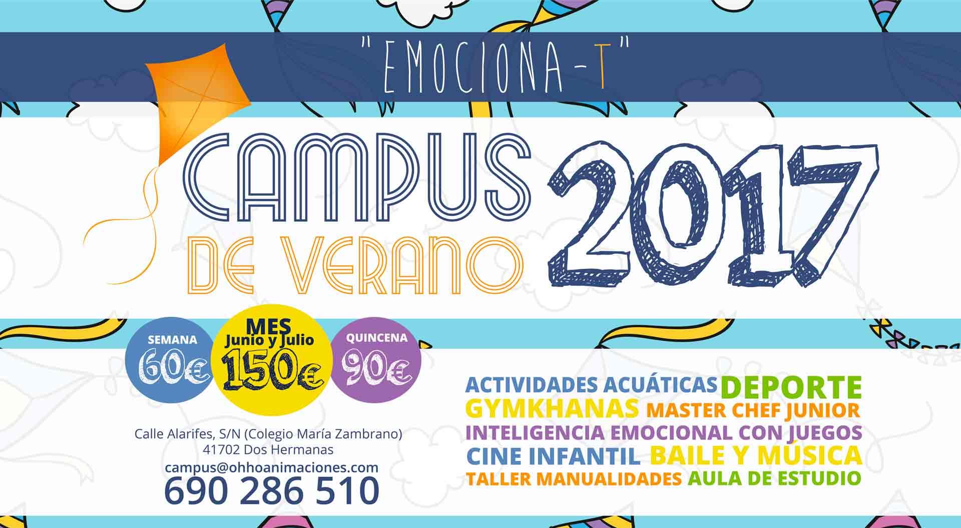 campus de verano en Dos Hermanas Ohhoanimaciones