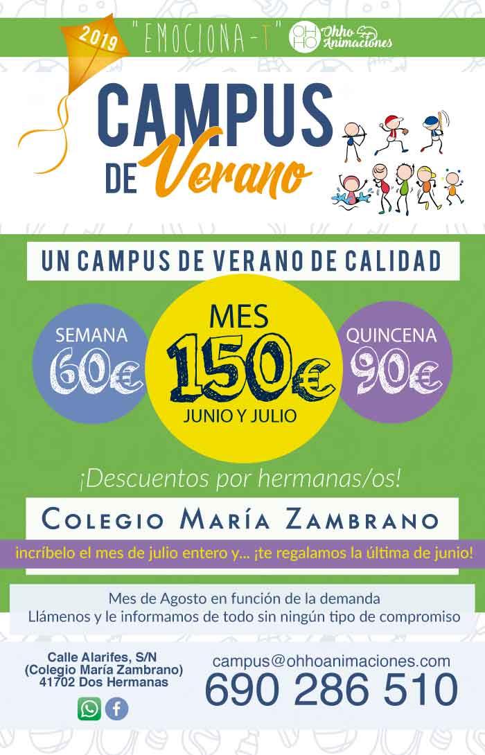 campus de verano Dos Hermanas 2019 Maria Zambrano