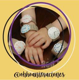 manualidades fáciles niños reloj