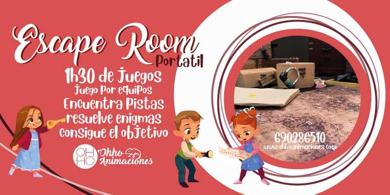 Escape room portátil en Sevilla. Escape a domicilio para comuniones
