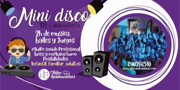 Mini disco para comuniones en Sevilla. Dj infantil