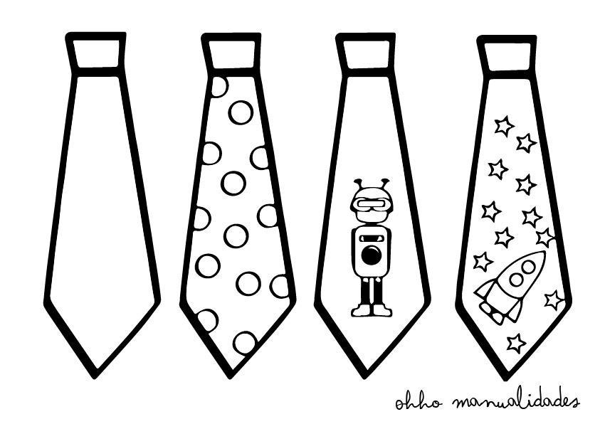 plantilla de corbatas para imprimir y colorear