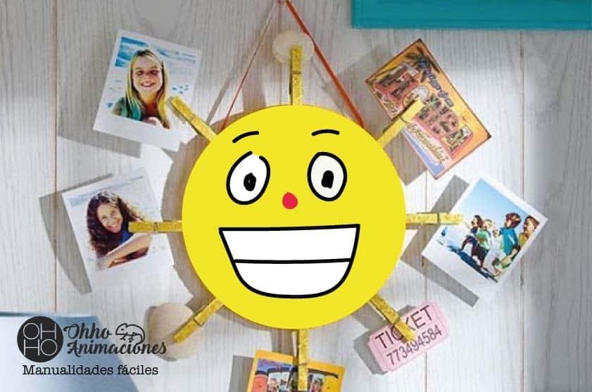 manualidad infantil del sol para el día de la madre