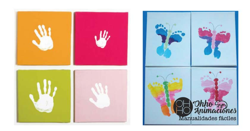 Manualidades infantiles cuadros decorativos
