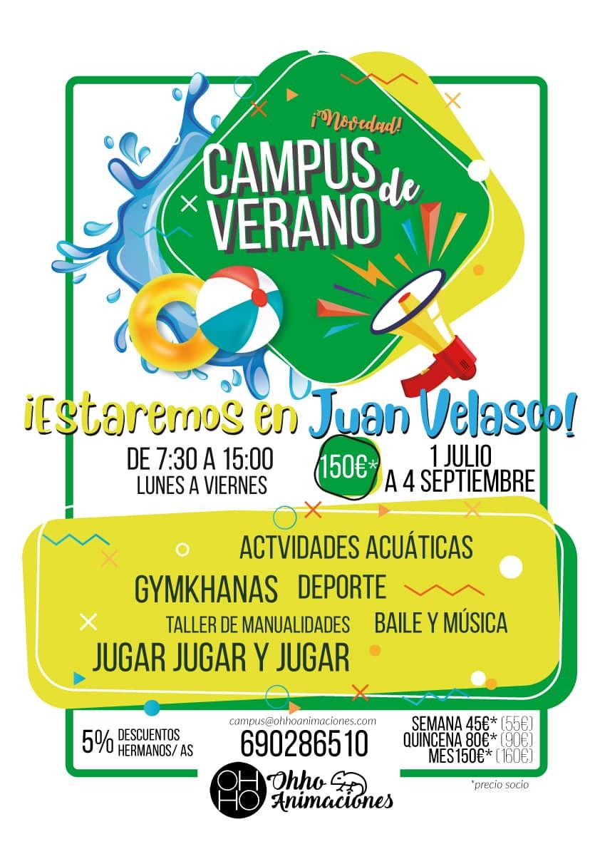 campus de verano 2020 Juan Velasco
