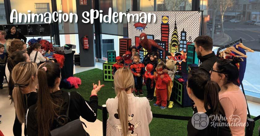 animaciones infantiles spiderman en Sevilla
