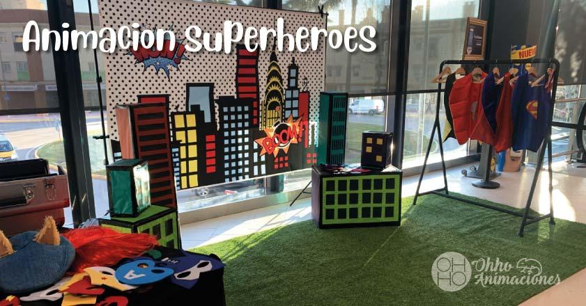 animaciones infantiles de superhéroes en Sevilla