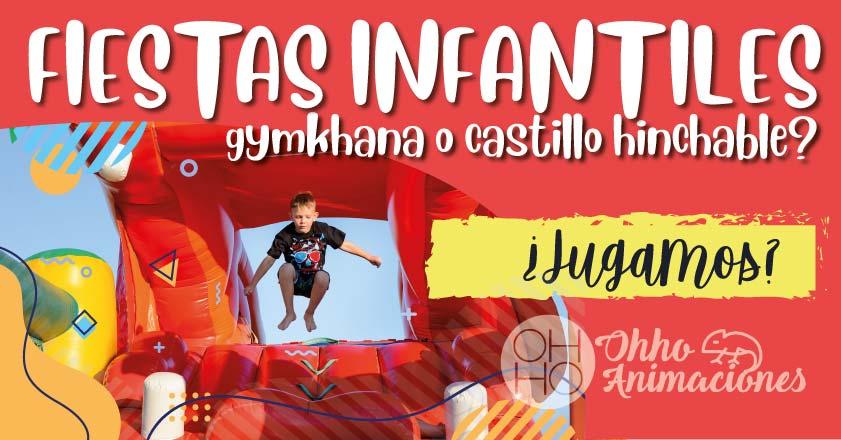 Fiestas infantiles castillo hinchable o gymkhana