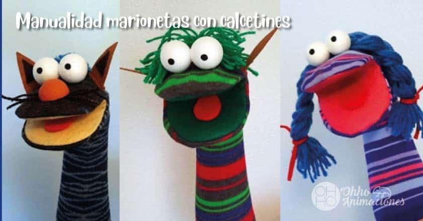 Manualidades de Marionetas con calcetines