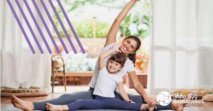 hacer ejercicio en casa para niños